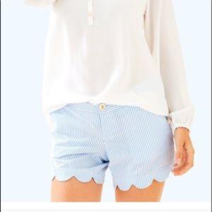 Lilly Pulitzer scalloped seersucker shorts